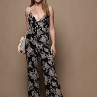 Endless Summer Floral Lace Up Jumpsuit