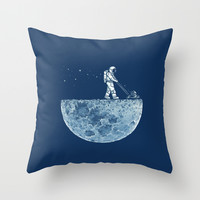 Mown Throw Pillow by Enkel Dika