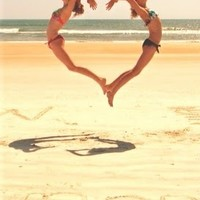beach, bikini, cute, friends, fun, girl - inspiring picture on Favim.com