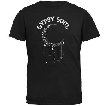 DCCKIS3 Halloween Gypsy Soul Crescent Moon Mens T Shirt