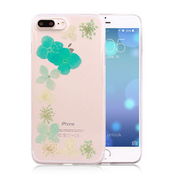 Mini LIMITED Handmade Pressed Flower Case Real Dried Flowers Phone Case Cover for iPhone 7 7Plus & iPhone se 5s 6 6 Plus +Gift Box 263