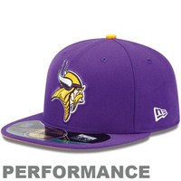 New Era Minnesota Vikings On-Field Performance 59FIFTY Fitted Hat - Purple