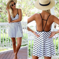Stripe Mini Dress [7279467271]