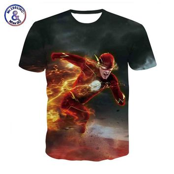 New 3D Comic Superhero the Flash T Shirt Superman Flash Comics Marvel T Shirts Movie Avengers Tee Shirt Homme