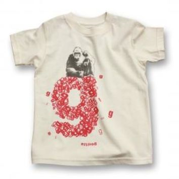biome5 Organic Letter Tees G: Gorilla