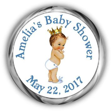 Prince Baby Shower Kisses Stickers