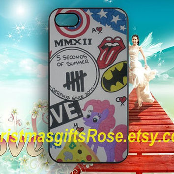 5 sos iPhone case-5 seconds of summer case for iPhone 4 4s 5 5s,Samsung Galaxy S3/S4/S5,iPhone 5C case,Samsung Note 2/3,soft Phone Cover,H14