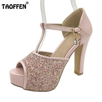 women quality high heel sandals fashion dress sexy shoes platform heels pumps P13878 Hot sale EUR size 32-42