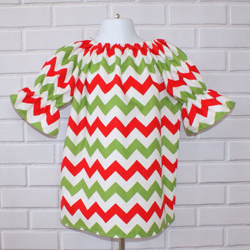 Chevron Christmas Toddler Dress Boutique Clothing By Lucky Lizzy's 2014