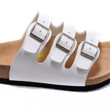 Birkenstock Orlando Sandals Leather White - Ready Stock