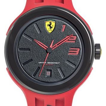 Men's Scuderia Ferrari 'FXX' Silicone Strap Watch, 46mm - Red/ Black