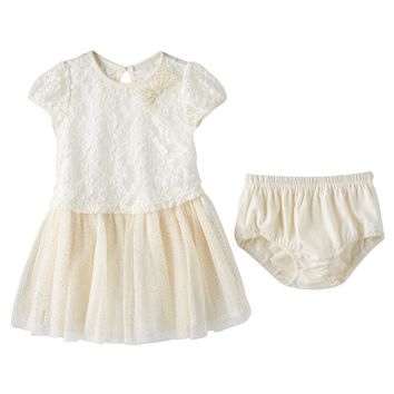 Nannette Floral Lace Tulle Dress - Baby Girl, Size:
