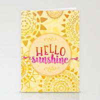 Hello Sunshine Stationery Cards by Noonday Design