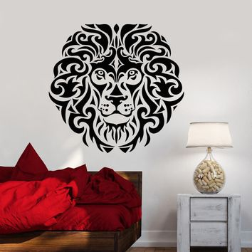 Vinyl Wall Decal Abstract African King Animal Lion Head Predator Stickers (2950ig)