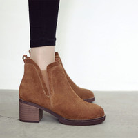 Hot Style Suede Elastic Retro Ankle Boots