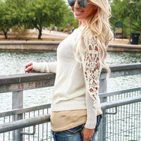 CREAM OF THE CROP CROCHET SWEATER