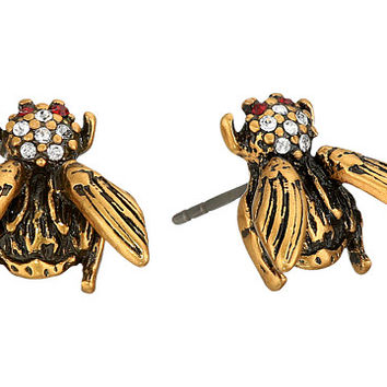 Marc Jacobs Charms Beetle Studs Earrings