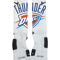 Oklahoma City Thunder NBA Basketball team-Custom Nike Elite Socks-Socktimus Prime