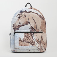 Companions - horse love Backpack by anipani