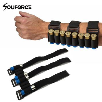 Tactical Military Hunting 8 Rounds Shooters Sleeve Shell Holder Forearm Bullet Mag Pouch Hunting Bag