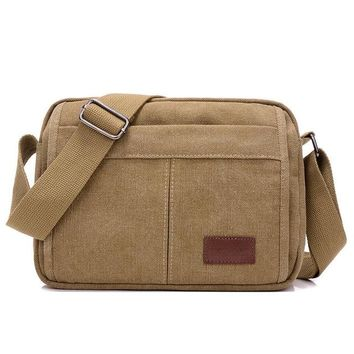 Boys bookbag trendy Men Canvas Messenger Bag Male Vintage Big Small Size Shoulder Crossbody Bags for Boy Military Multifonction High Quality  AT_51_3