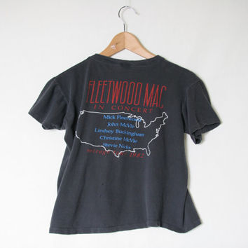 Thrashed 1982 Fleetwood Mac Tour Shirt - Mirage Tour - 80s 1980s Music T - Band T Shirt - Stevie Nicks - Tour T-Shirt - Distressed