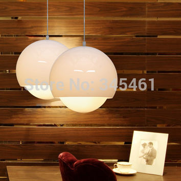 Modern Lighting- 2Pcs Glass Pendant Lamp Single Head Bar Hanging Light 3 Options Artistic Personality Led Indoor Pendant Lamps