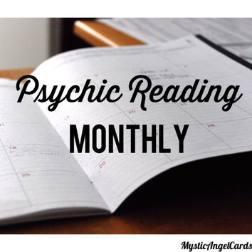 Psychic Reading- Monthly, Set Intentions for the month based on your needs, Monthly Clients, Monthly Follow-up, email or video reading