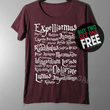 Harry Potter Spell Shirt Magic Spell Shirts TShirt T Shirt Tee Shirts - Size S M L