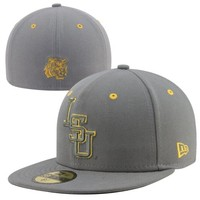 New Era LSU Tigers Storm 59FIFTY Fitted Hat - Gray