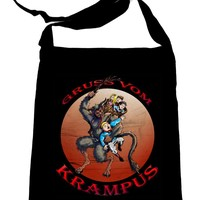 Gruss Vom Krampus Crossbody Sling Bag Christmas