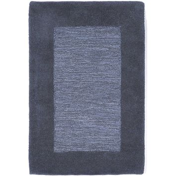 Trans Ocean Madrid Border Blue Area Rug