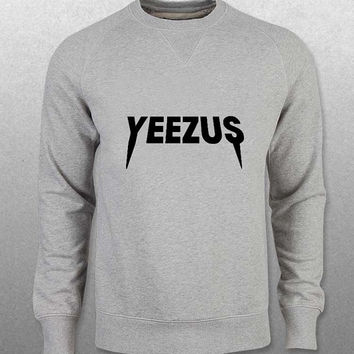 yeezus sweater Gray Sweatshirt Crewneck Men or Women Unisex Size with variant colour