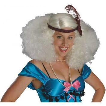 Burlesque Platinum Wig Costume Accessory, Afro, Flapper