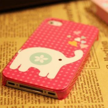 Pink Elephant Design iPhone 4 4s Case from http://www.looback.com/
