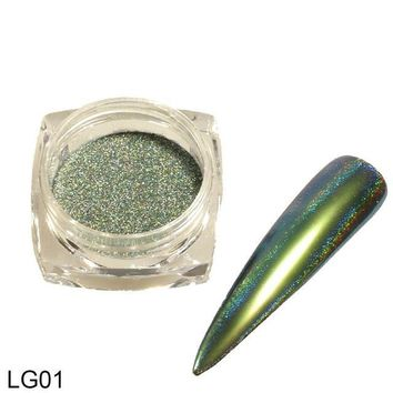 1 box 2017 Colorful Peacock Chameleon Mirror Effect Nail Glitter Powder Dust DIY Charm Decor Nail Art Chrome Pigment CHLG01-12