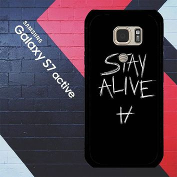 Twenty One Pilots Stay Alive X4419 Samsung Galaxy S7 Active Case