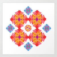 A kaleidoscope Art Print by Yarive