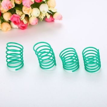 10 pcs/set Pet Wide Durable Heavy Gauge Plastic Colorful Springs Cat Toy Playing Toys For Kitten Pet Accessories
