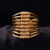 Wire wrapped Brass Ring , Ethnic Indian Ring