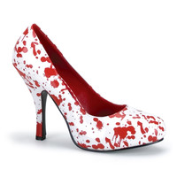 Womens Blood Stain White Pump Shoe