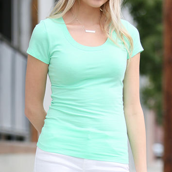 42POPS Mint Scoop Neck Tee | zulily