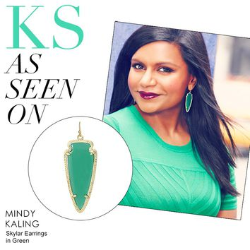 Skylar Earrings in Green - Kendra Scott Jewelry