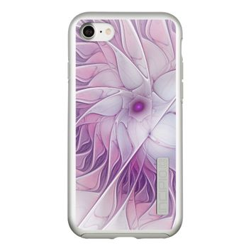 Beautiful Pink Flower Modern Abstract Fractal Art Incipio DualPro Shine iPhone 7 Case