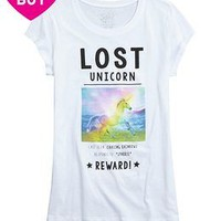Lost Unicorn Graphic Tee | Girls Tops Clothes | Shop Justice