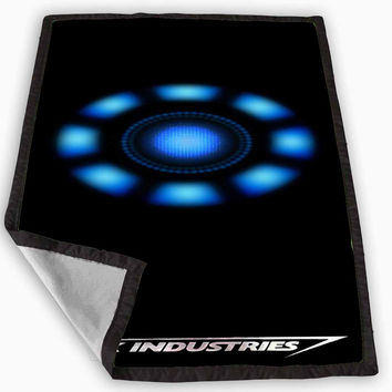 Minimalistic Iron Man Arc Reactor Stark Industries Blanket for Kids Blanket, Fleece Blanket Cute and Awesome Blanket for your bedding, Blanket fleece *