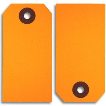 Fluorescent Orange Paper Tags