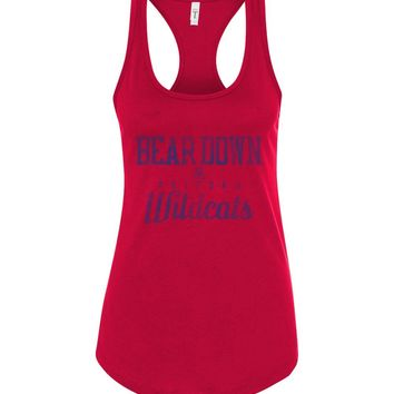 Official NCAA Venley University of Arizona Wildcats U of A Wilber Wildcat BEAR DOWN! Next Level Racerback Tank - 30ua-1