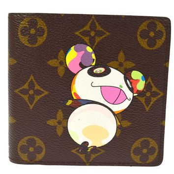 AUTHENTIC LOUIS VUITTON MONOGRAM PANDA TAKASHI MURAKAMI WALLET M61666 AK21982