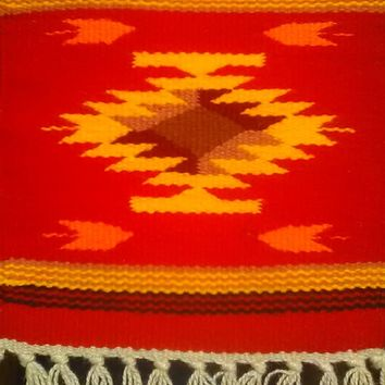 "Aztec Design Table Rug, #2 10"" by 10"""